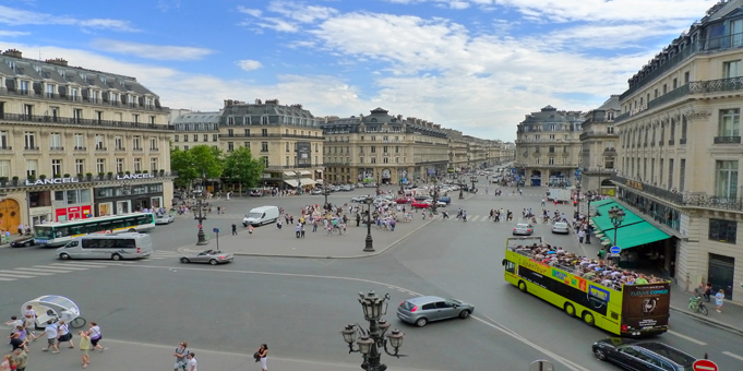 Place et boulevard de l'opéra