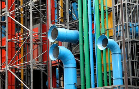 Détail du centre Pompidou